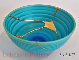 Bowl with gold